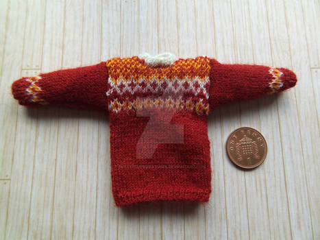 1:12th scale Fair isle jumper 1