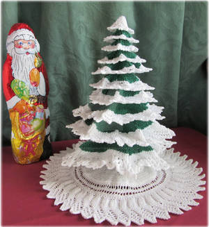 Knitted Advent Tree pattern