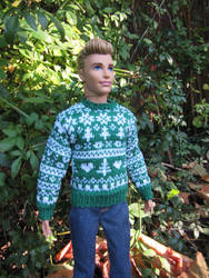 1:6th scale Nordic style sweater by buttercupminiatures