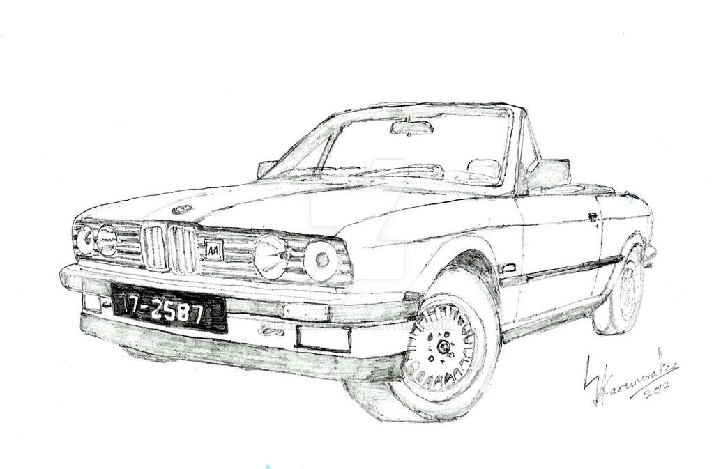 bmw e30 316i convertible by lahiruj on deviantart