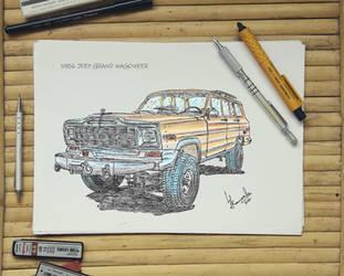 1986 Jeep Grand Wagoneer by LahiruJ