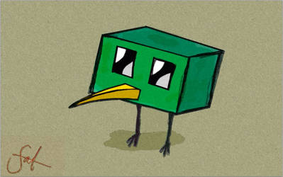Cardboard Kiwi by Falcon-RawByte