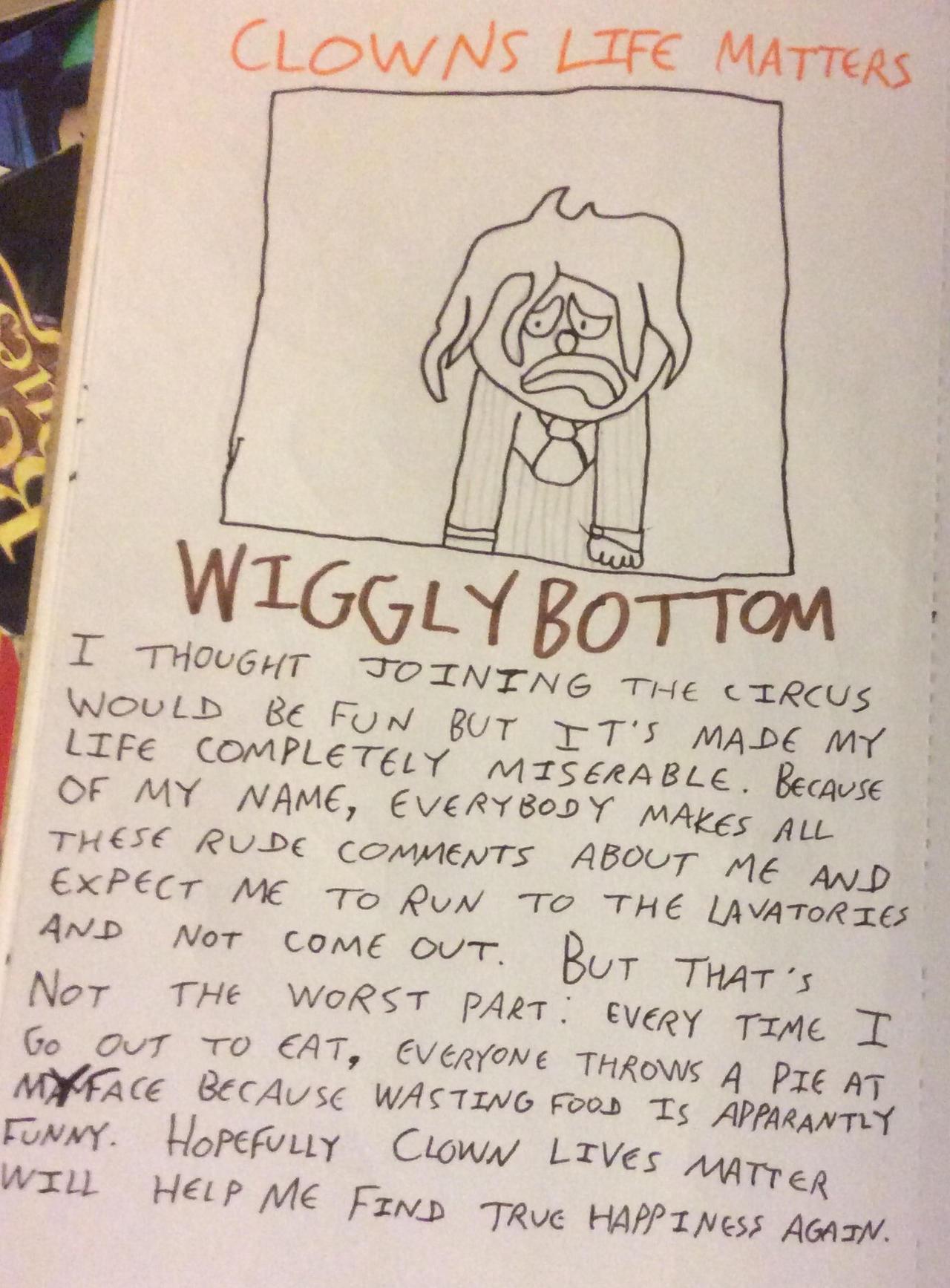 Clown Lives Matter: WigglyBottom's flyer by JimmyTheNerd