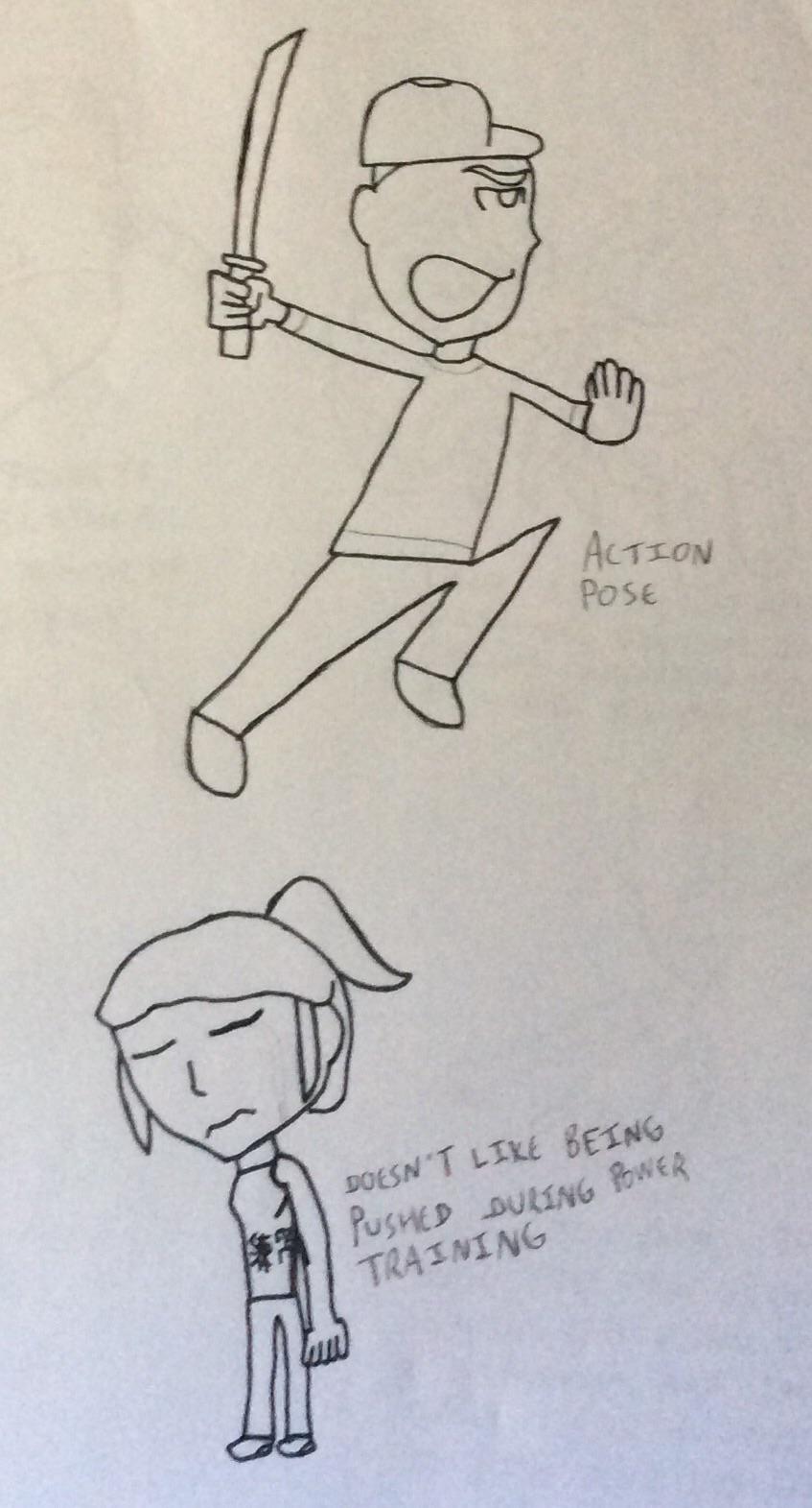 Random Resistance Doodles: Geri And Mindy by JimmyTheNerd