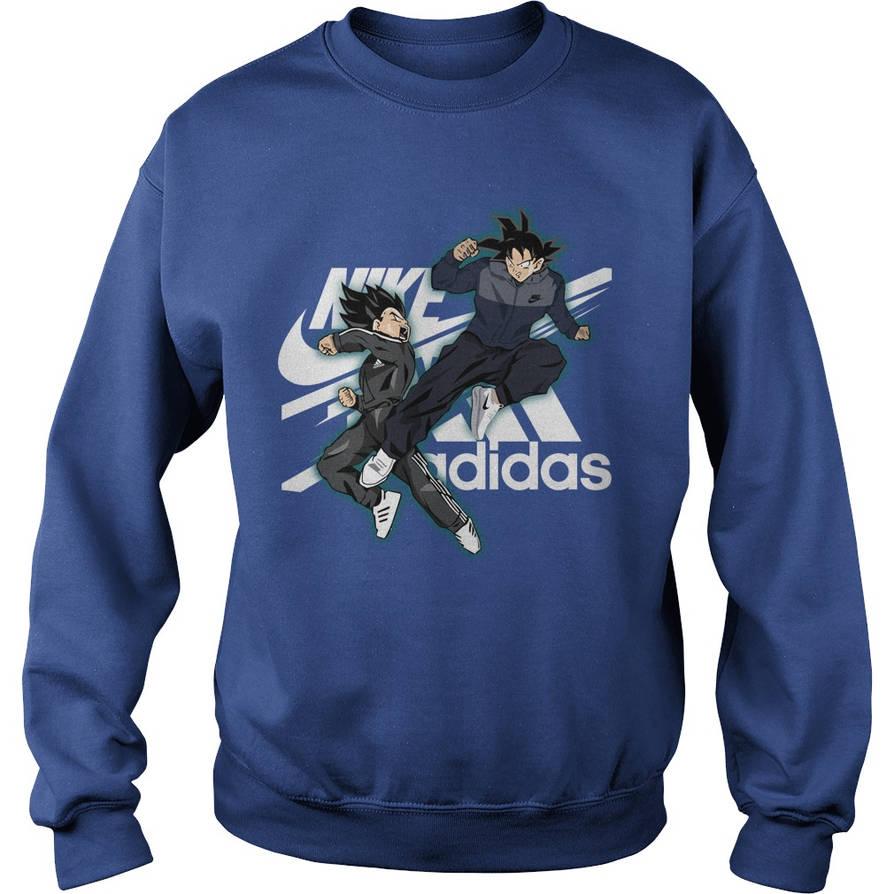 57c2ce885 Vegeta Nike Goku Adidas shirt by baraxsama on DeviantArt