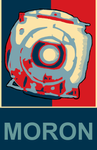 MORON- A parody of Obama's Hope poster ~ Wheatley