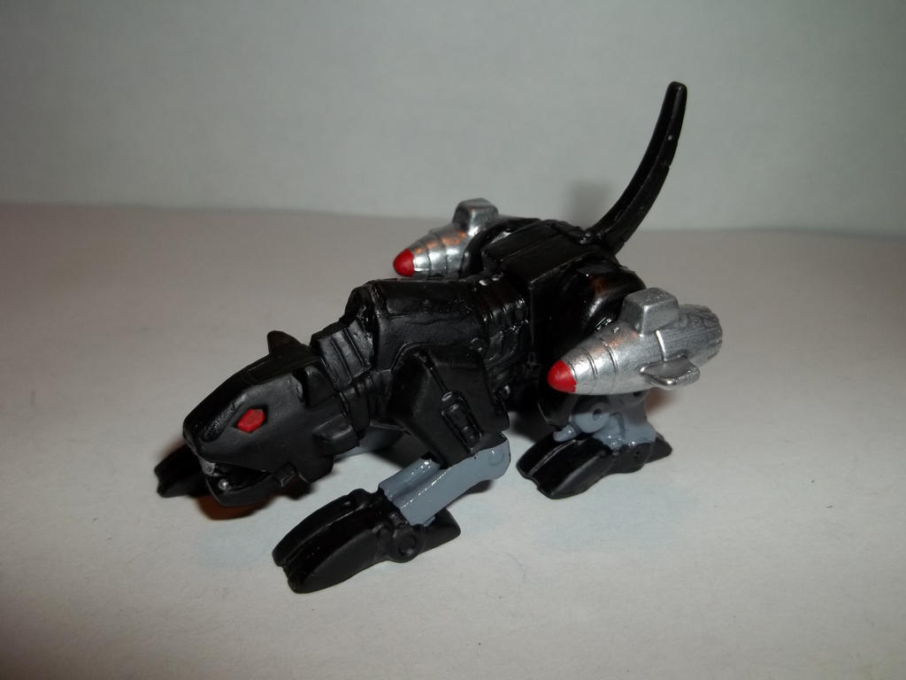 Custom transformers robot heroes g1 ravage by alx333