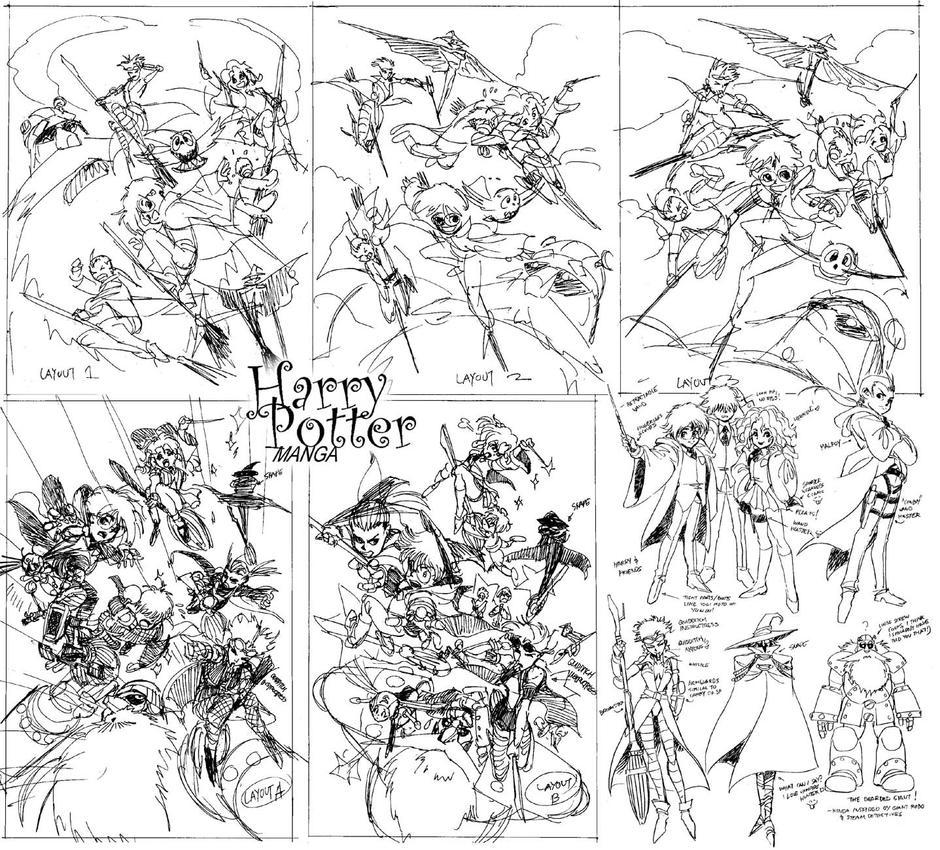 harry potter manga sketches by batangbatugan on deviantart