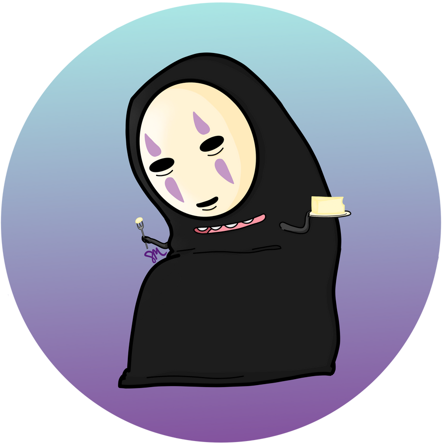 No Face with Cheesecake by ItTastesLikeMyCat