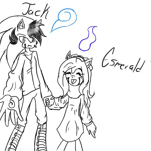 Jack and sister Esmeraldja by LTHVampiWolf