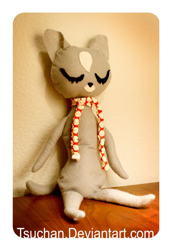 Vintage Raindrop Cat Plush by Tsuchan