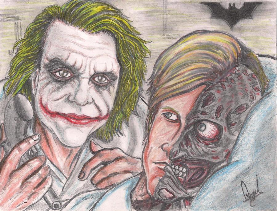 Joker Scribble Drawing : The joker and harvey dent by angell art on deviantart