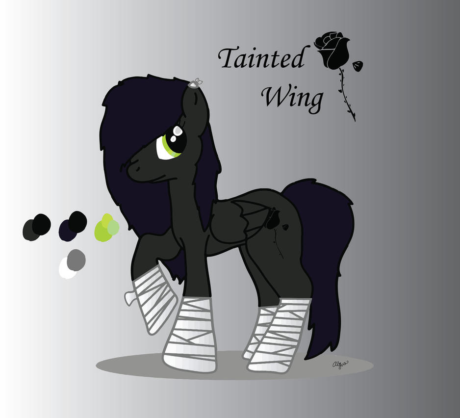 Ponysona - Tainted Wing by Shylyn-Drawing-Queen