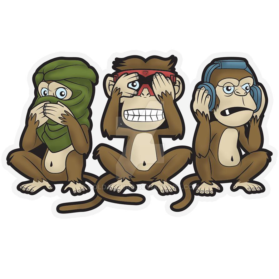 fbc75d41d Three Wise Monkeys by GoldAround on DeviantArt