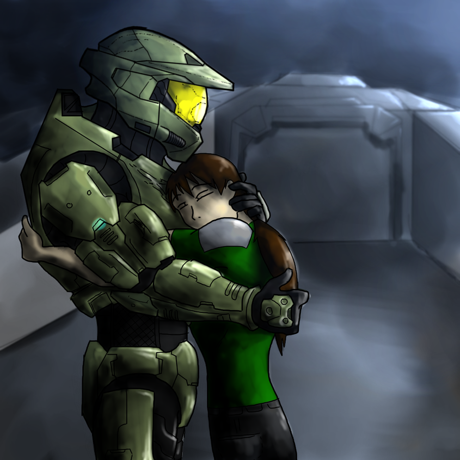 Cold metal, warm hug. by Halo-Yokoshima