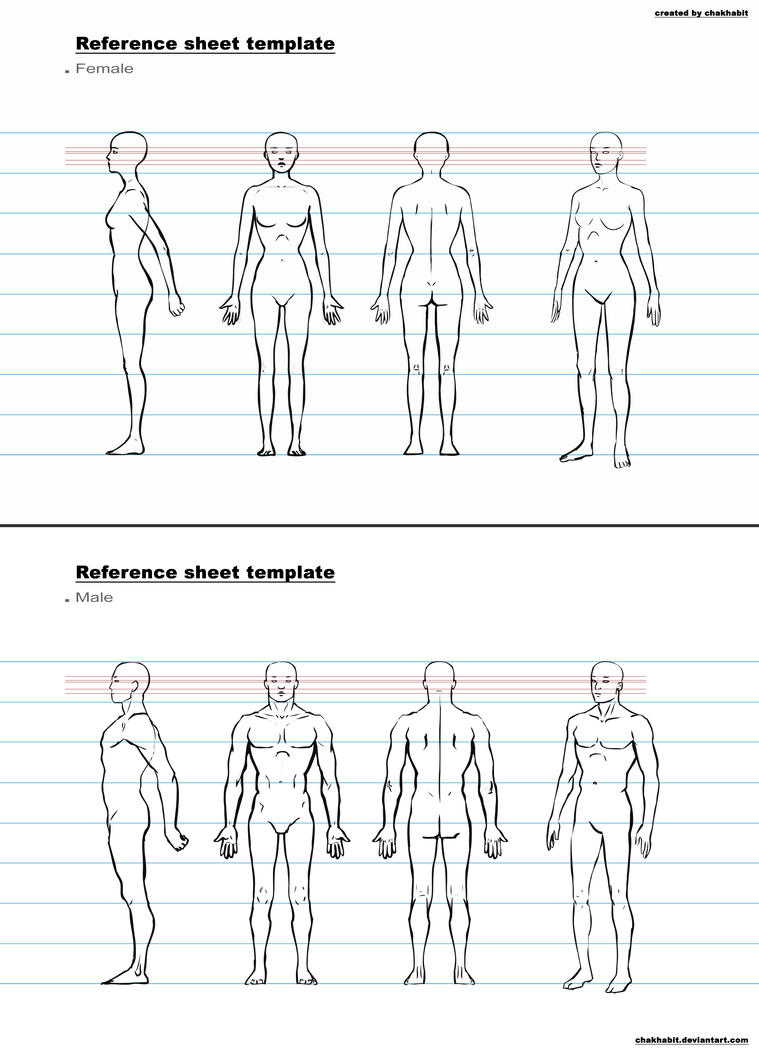 Character Design Format : Ref sheet template a by chakhabit on deviantart
