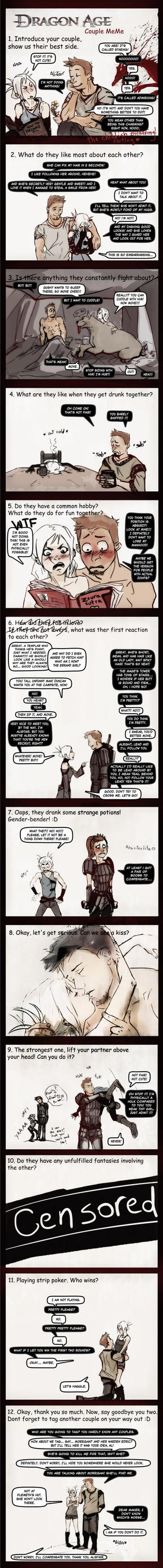 Dragon Age Couple Meme by chakhabit