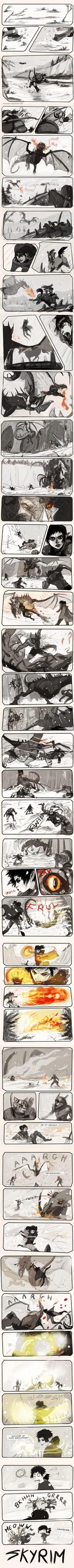 Skyrim dragon slaying by chakhabit