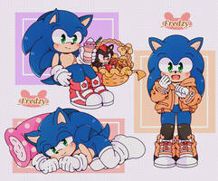 Sonic with little suits