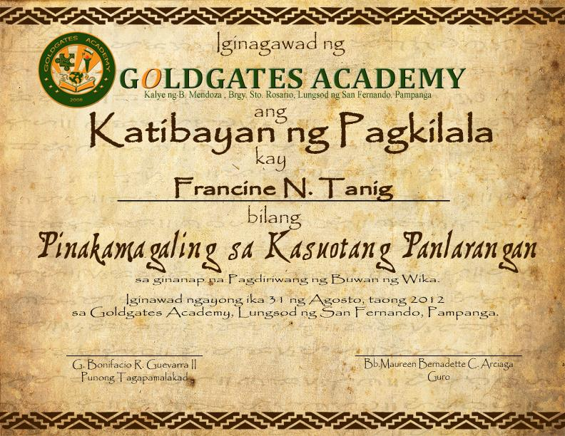 Buwan ng wika certificate by roeljangeles on deviantart buwan ng wika certificate by roeljangeles yadclub Images