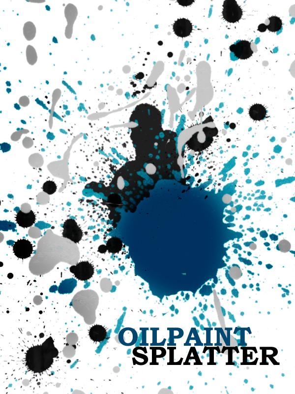 Oilpaint Splatter Brushes by Qbrushes