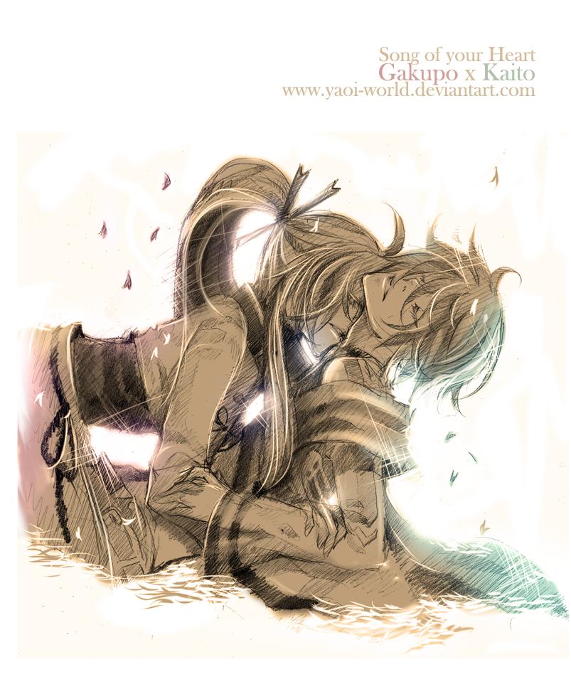 Yaoi Fanart - Gakupo x Kaito: Song of Heart by Yaoi-World