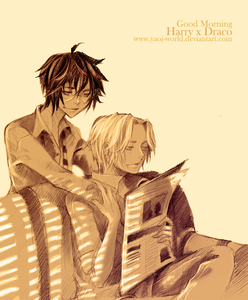 Yaoi Fanart - Harry x Draco: Good Morning by Yaoi-World