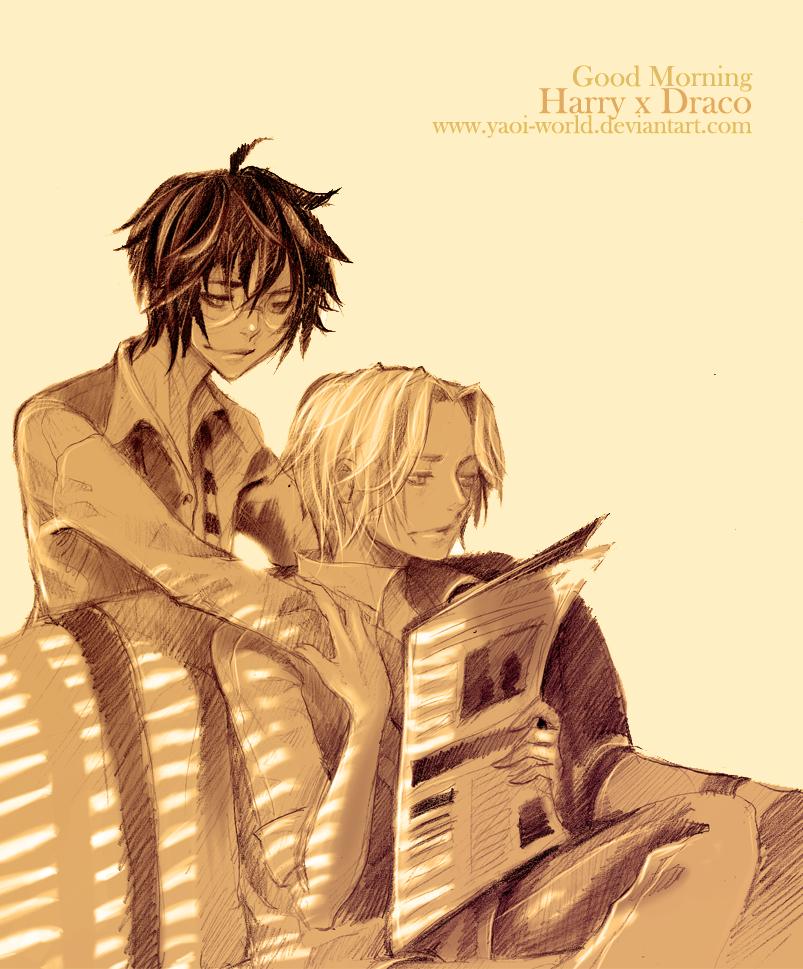 Yaoi Fanart - Harry x Draco: Good Morning by Yaoi-World