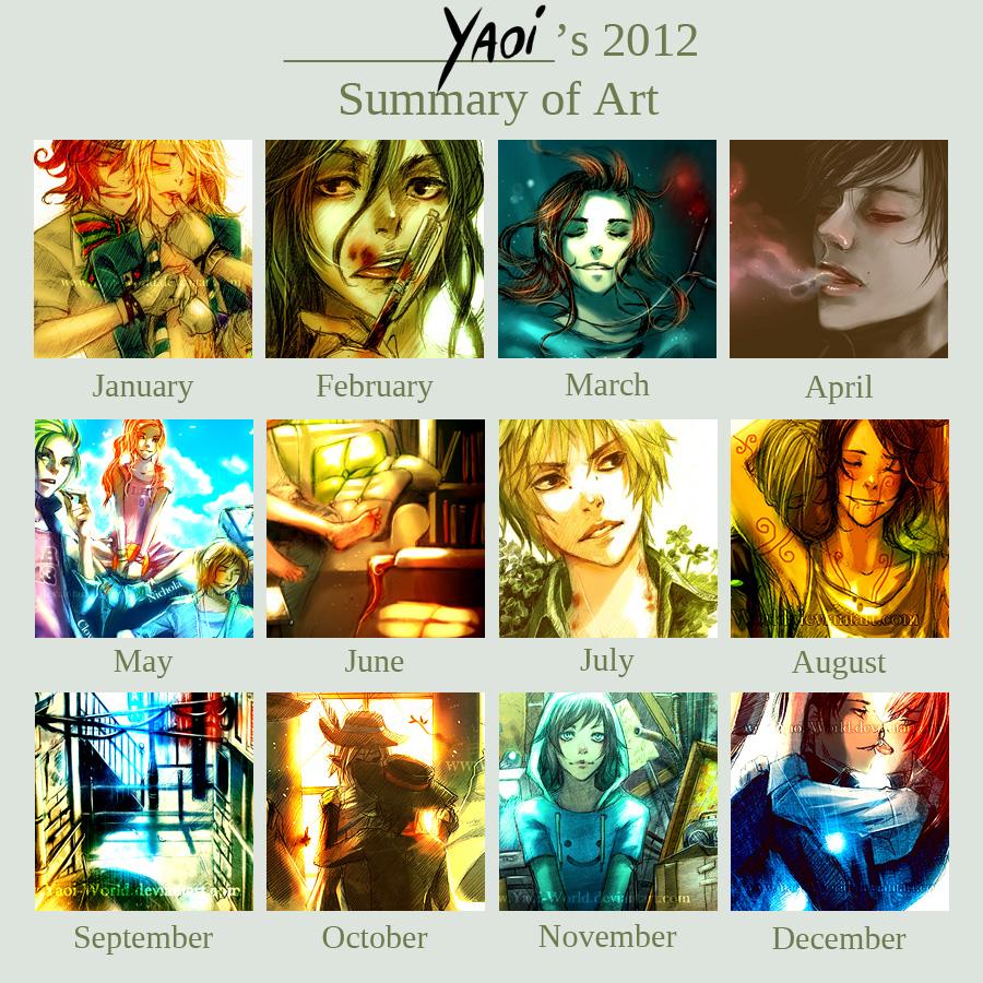 Yaoi's 2012 Summary of Art by Yaoi-World