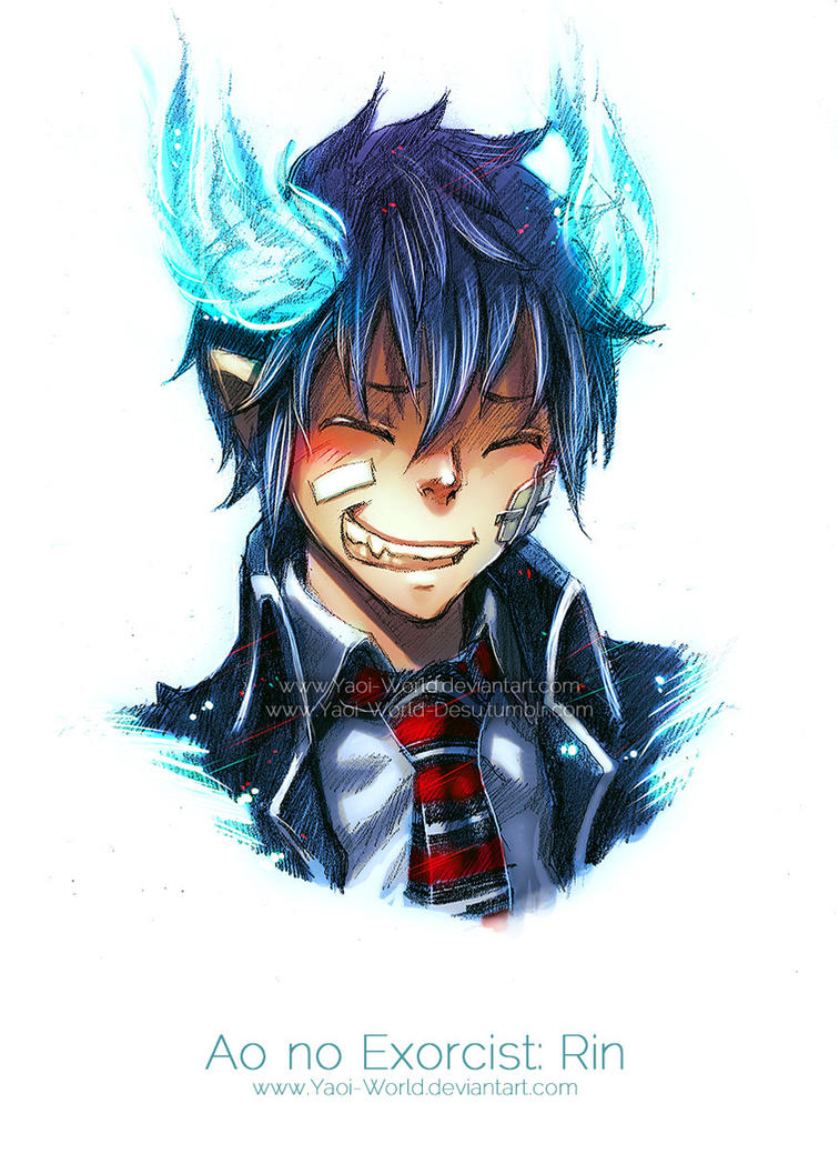 HeadShot Commission: Ao no Exorcist: Rin by Yaoi-World