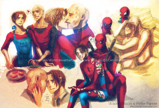 Yaoi Commission: Wade Wilson x Peter Parker