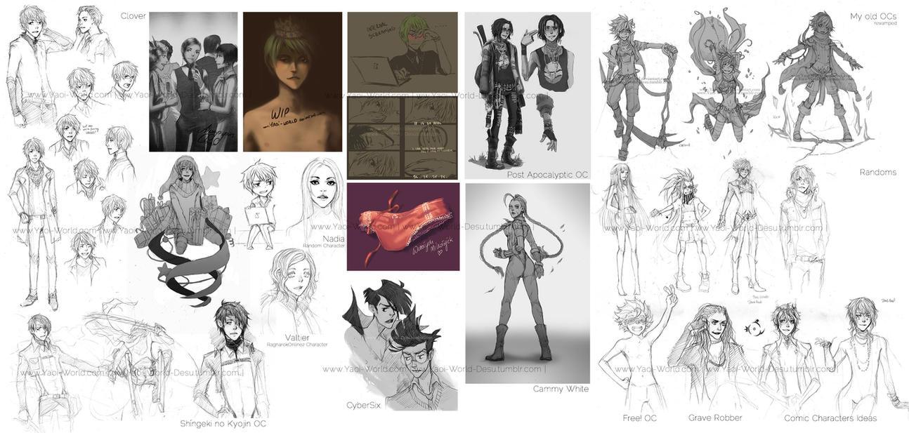 Sketch Dump 04 by Yaoi-World