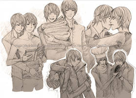 Yaoi Commission: Light Yagami (sketch) by Yaoi-World