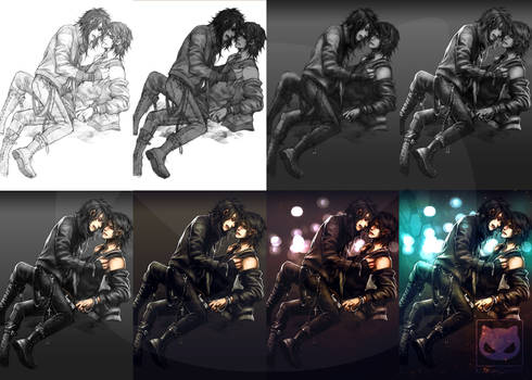 Coloring traditional art in Photoshop