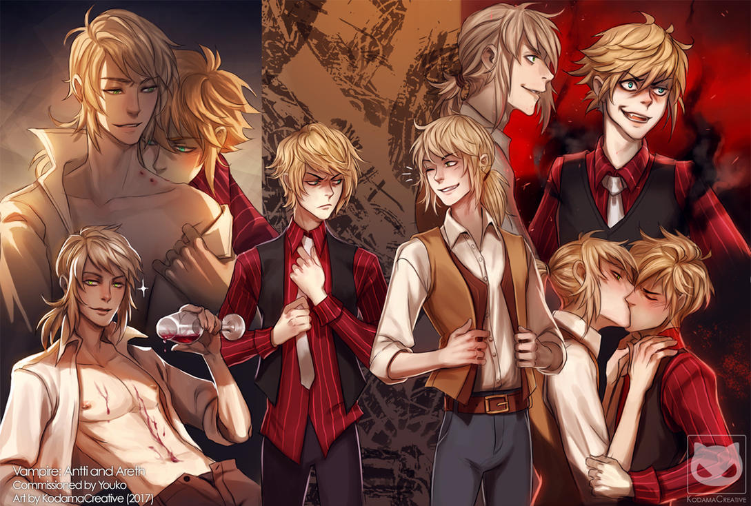Vampire: Antti and Areth (Commission) by Yaoi-World
