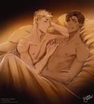Valentine's Day Commission - Bates and Jupiter