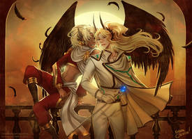 Commission: Lucifer and Mammon