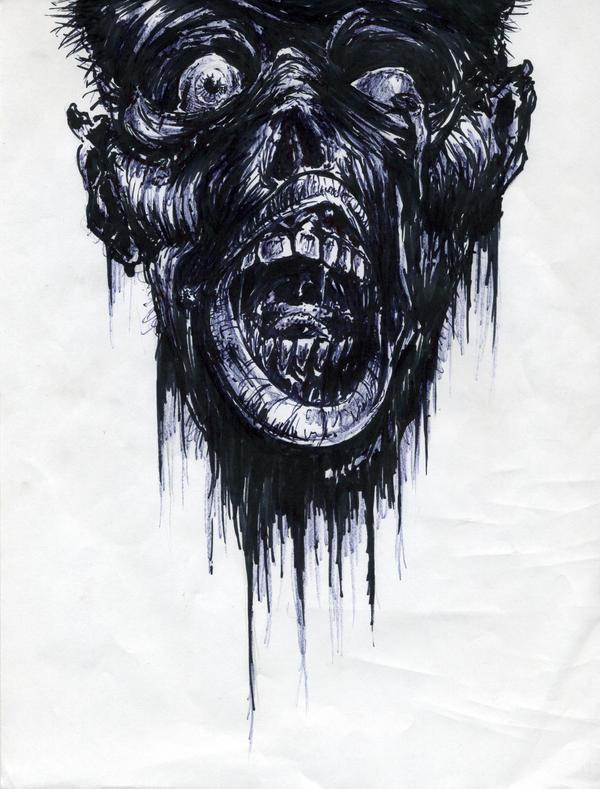 Zombie Head Stencil Zombie head by thatguy101 Zombie Head Stencil