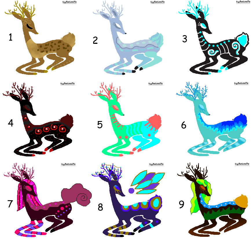 *Open* Deer Adopts by Jazzybirdadopts