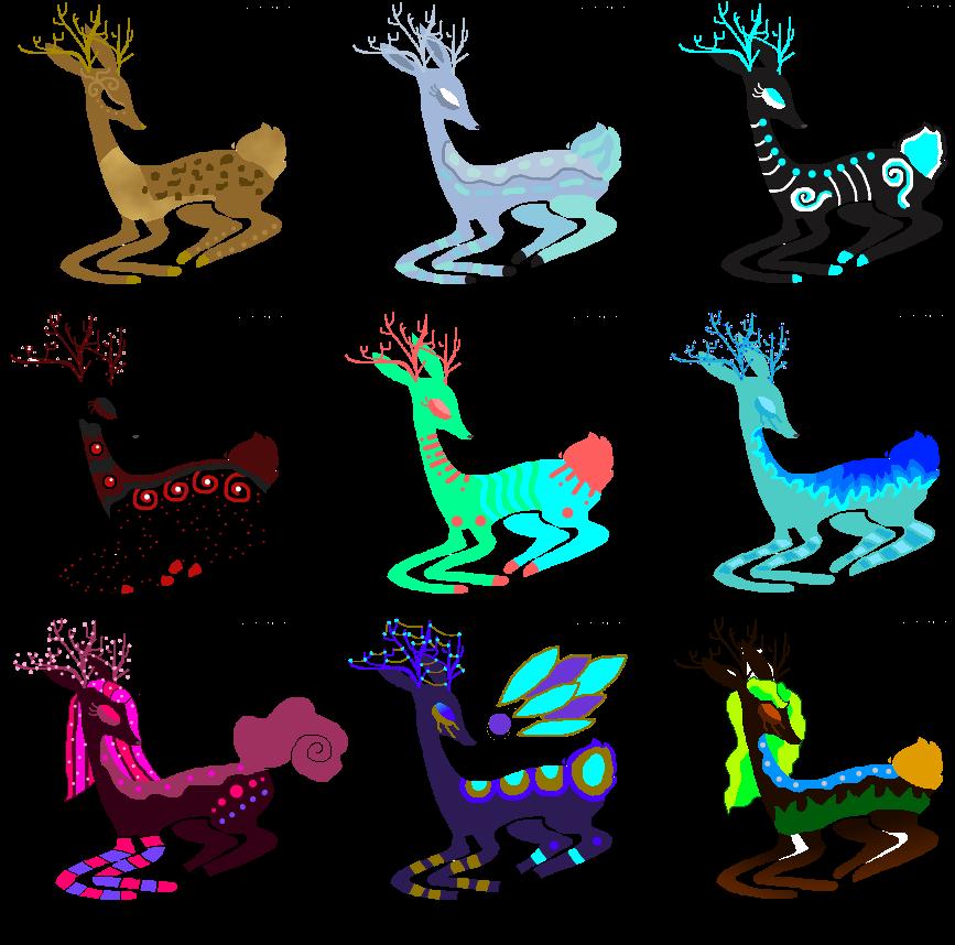 *Open* Deer Adopts by Jazzybirdadopts