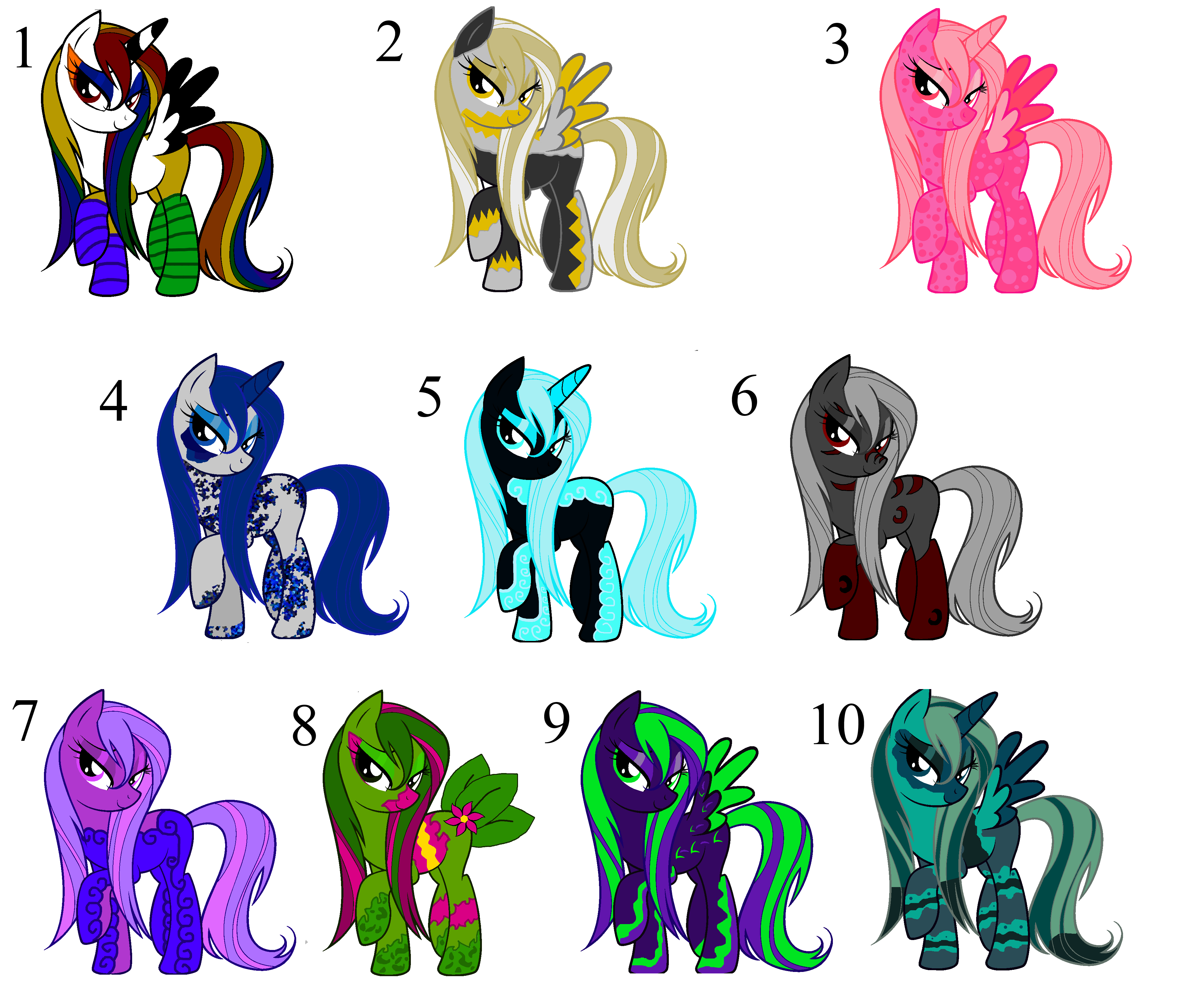 *Open* Pony (MLP) Point Adopts by Jazzybirdadopts