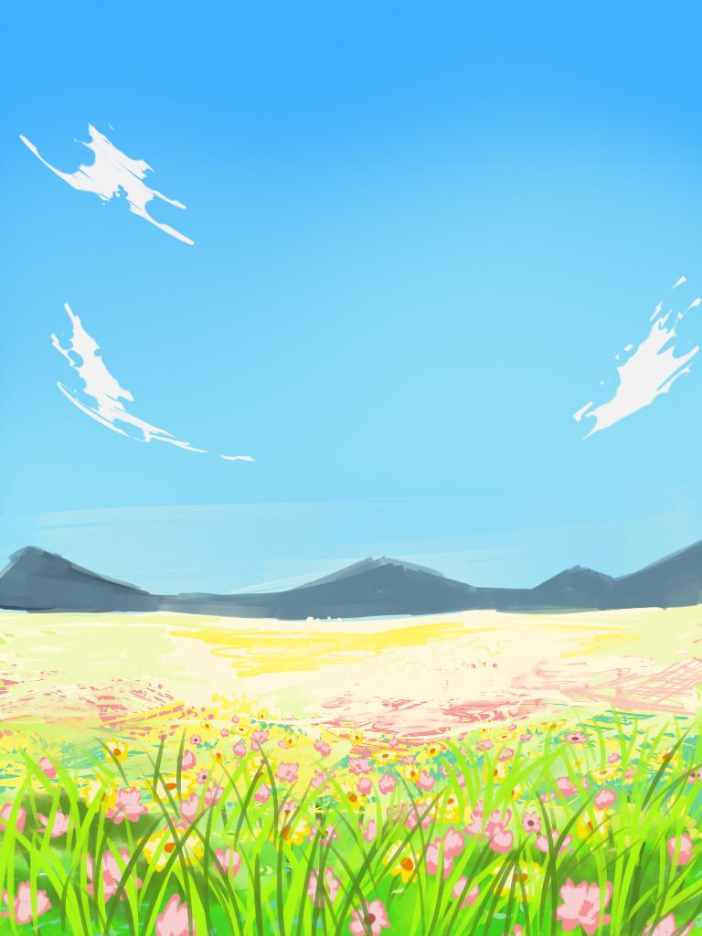 Simple Flower Field By Oinario On Deviantart