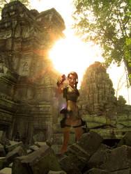Lara Croft on Cambodia