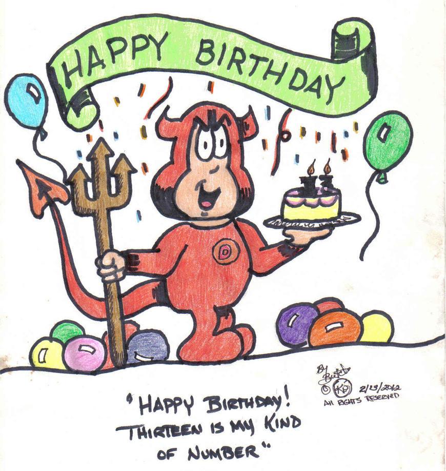 13th birthday card by butch68 on deviantart 13th birthday card by butch68 bookmarktalkfo Image collections