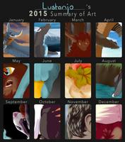 2015 Summary of Art by Lustanjo