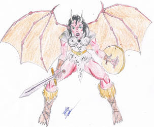 Warrior demoness by Lord-Samhain