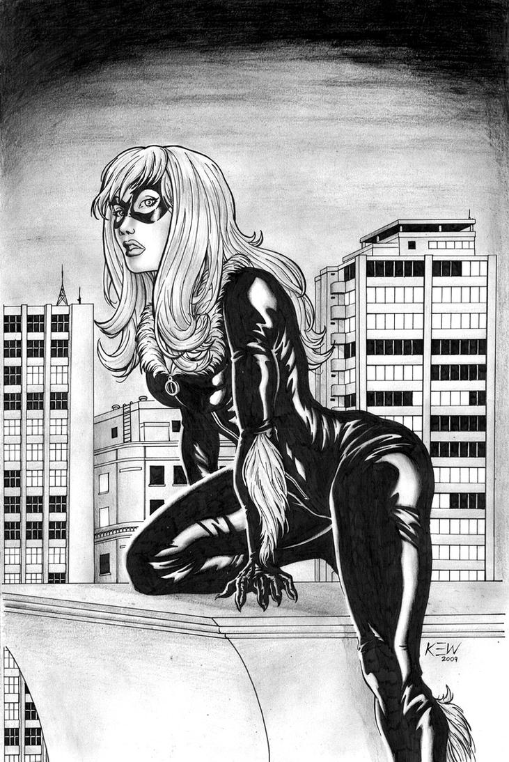 Black Cat Pinup by kewber