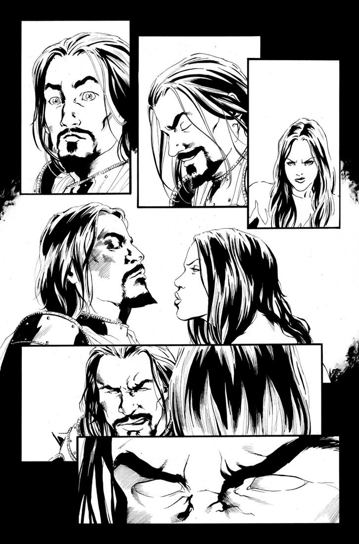 Blood Queen Vs Dracula #2 Page 3 by kewber