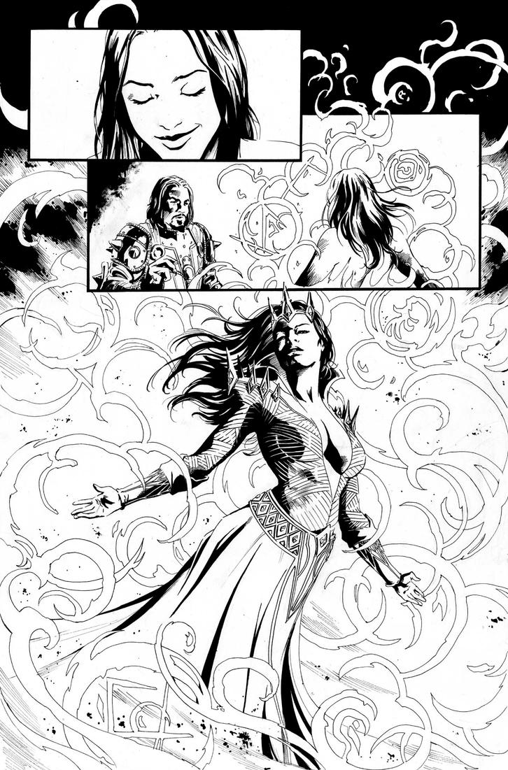 Blood Queen Vs Dracula #2 Page 4 by kewber