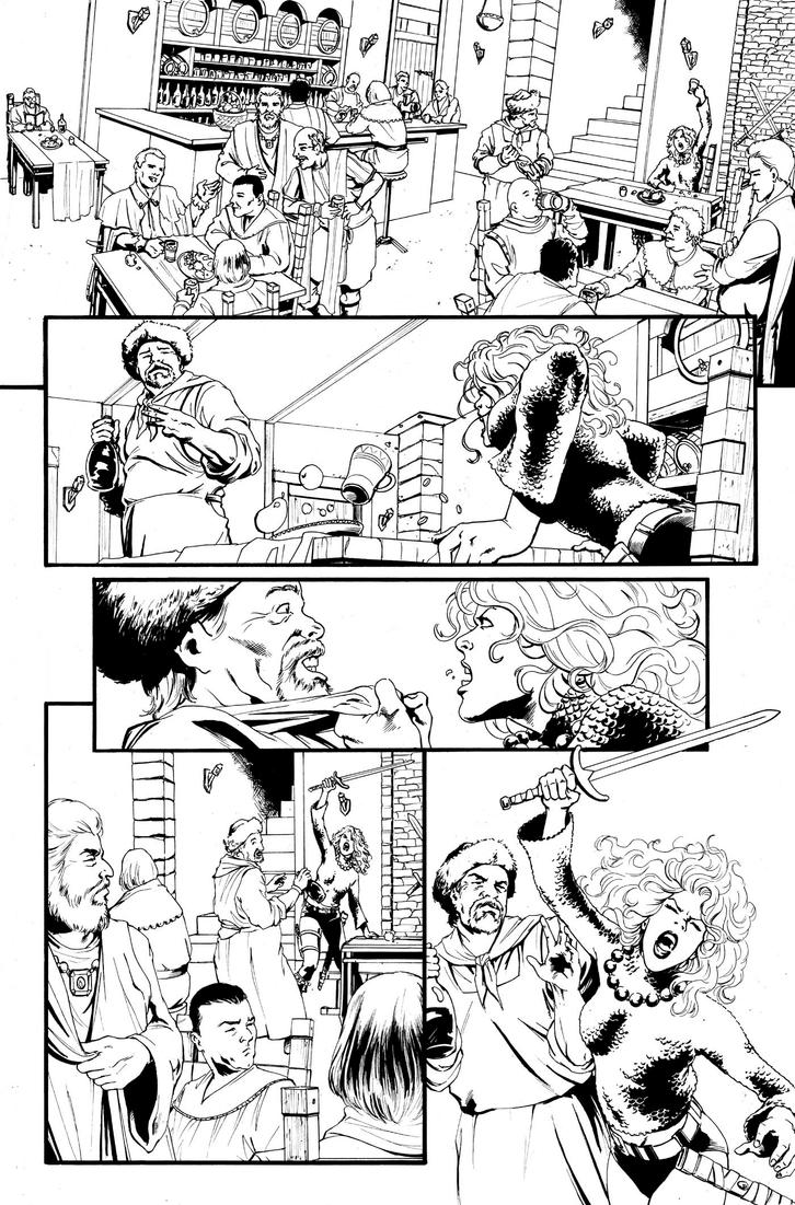 Red Sonja 1973 Page 1 by kewber